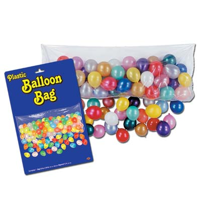 Plastic Balloon Bag w/100 Balloons