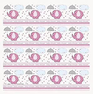 Wrapping Paper - Baby Shower Pink