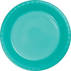 Plastic Lunch Plates - Teal 20ct