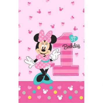 Table Cover - Minnie's 1st Bday