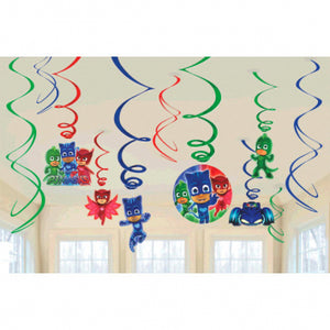 Hanging Decorations - PJ Masks 12ct