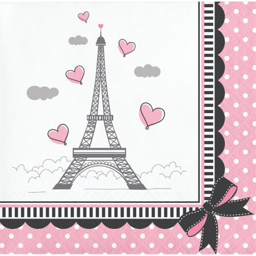 Beverage Napkins - Paris Party 16ct