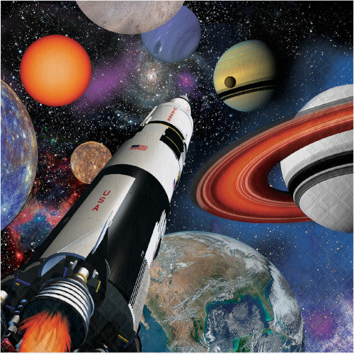 Lunch Napkins - Space Blast 16ct