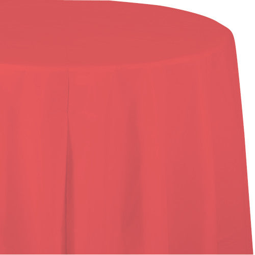 Round Table Cover - Coral