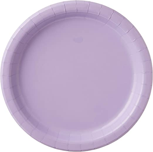 10 Inch Plates - Lavender 24ct