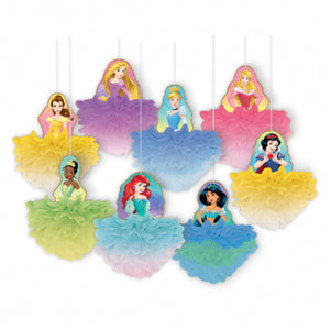 Deluxe Fluffy Decorations - Disney Princess 8ct