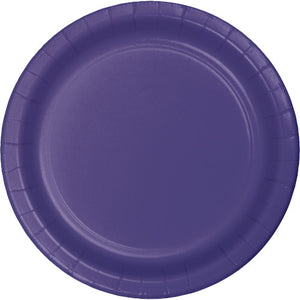 Dessert Plates - Purple 24ct