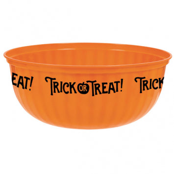 Trick-Or-Treat! Large Plastic Bowl