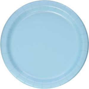 Plastic Lunch Plates - Pastel Blue 20ct