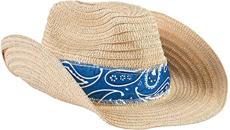 Cowboy Hat With Blue Band