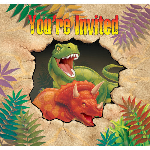 Invitations - Dino Blast 8ct
