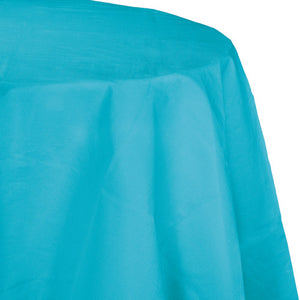 Round Paper Table Cover - Bermuda Blue