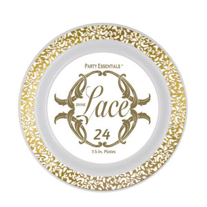 "7.5"" Gold Lace Plates 24ct"