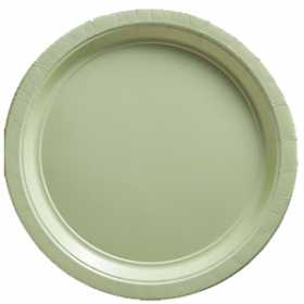 Plastic Lunch Plates - Leaf Green 20ct