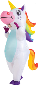 Inflatable White Unicorn Costume