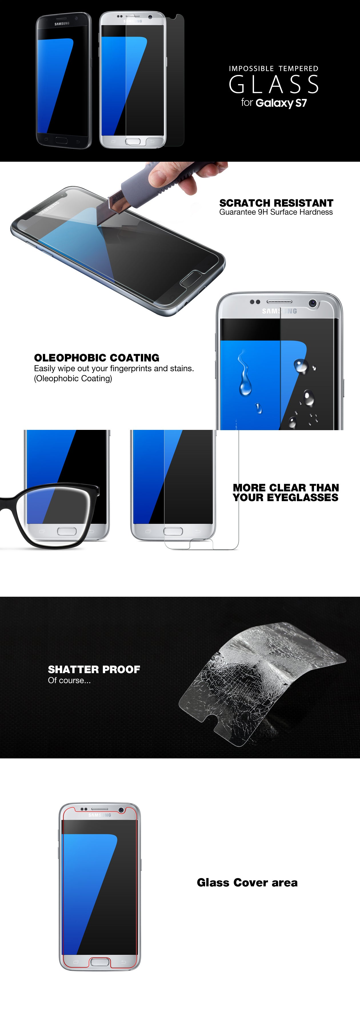 Patchworks ITG Plus Galaxy s7 screen protector tempered glass detail 01