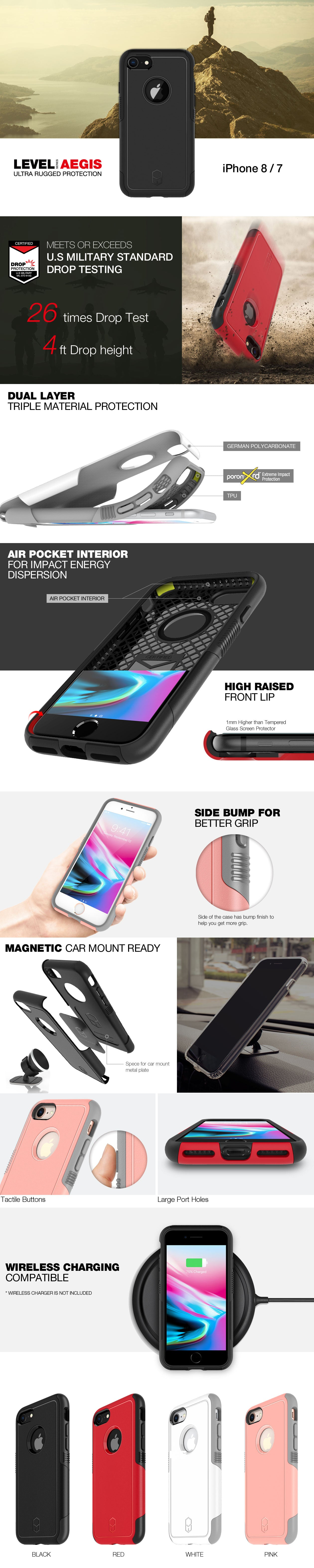 Patchworks Level Aegis case for iPhone 8 and 7