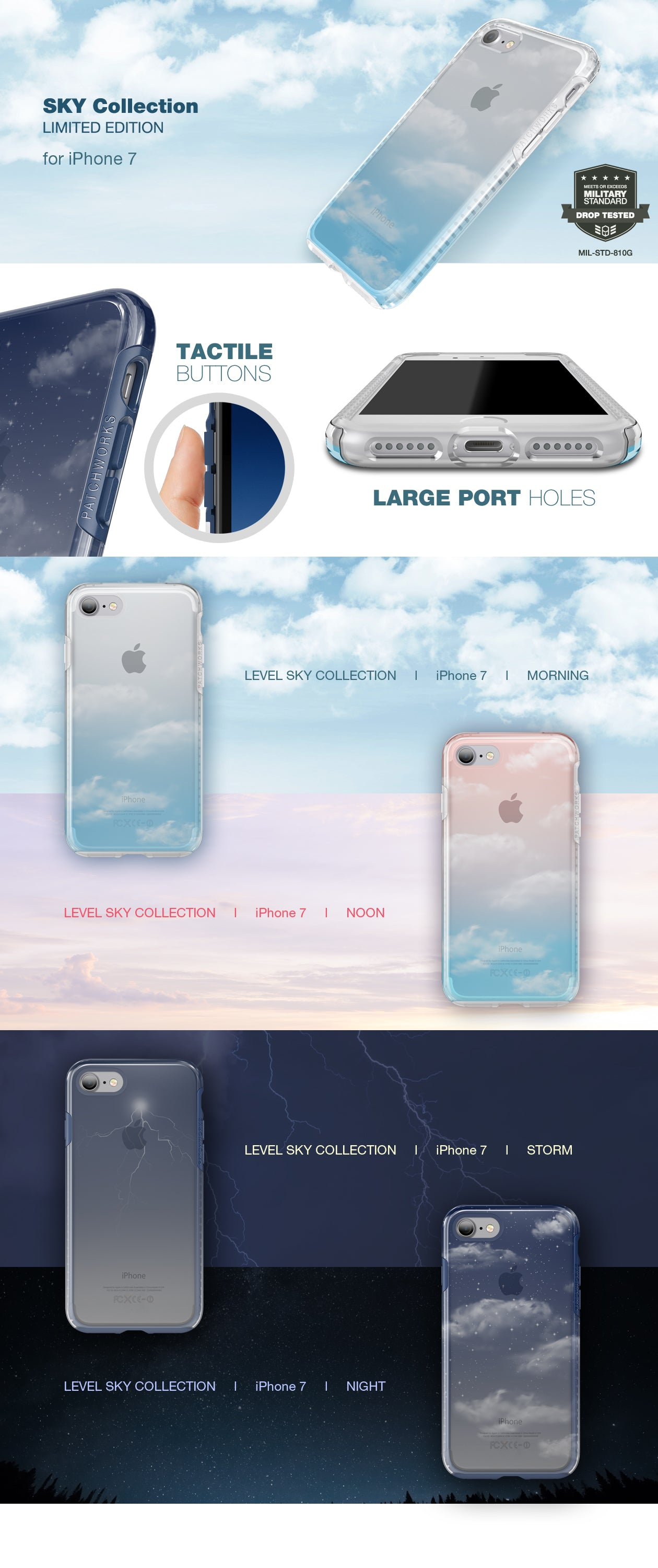 Patchworks Level Sky Collection for iPhone 7