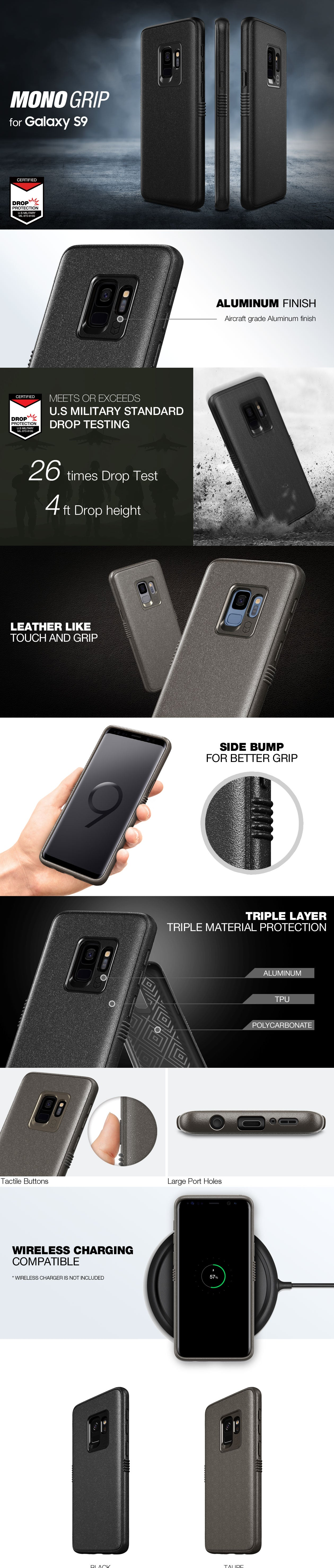 Patchworks Mono Grip case for Galaxy S9