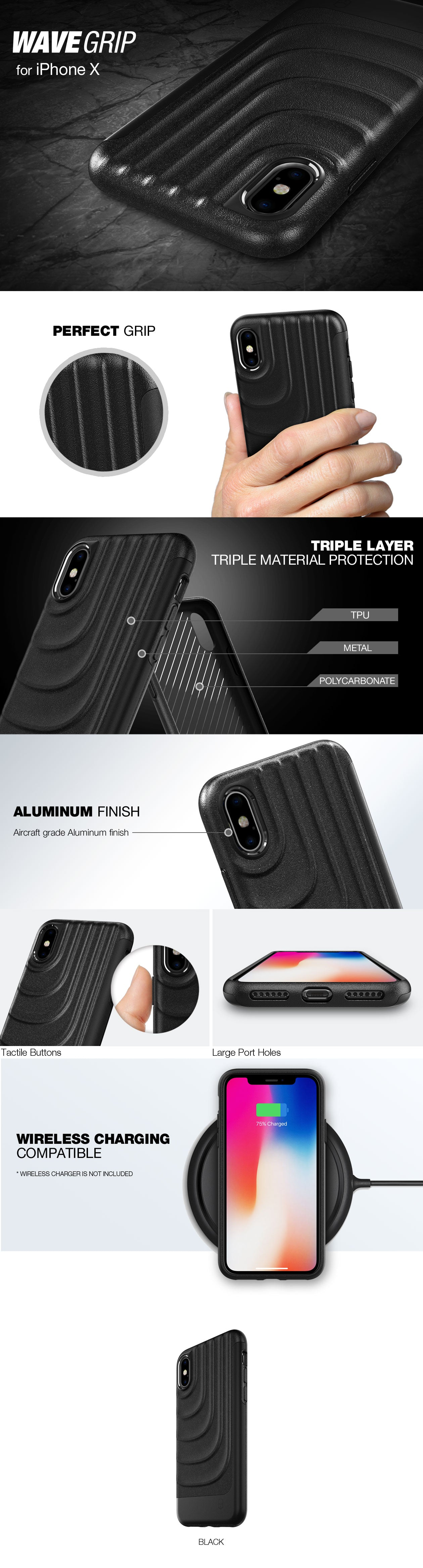 Patchworks Wavegrip case for iPhone X