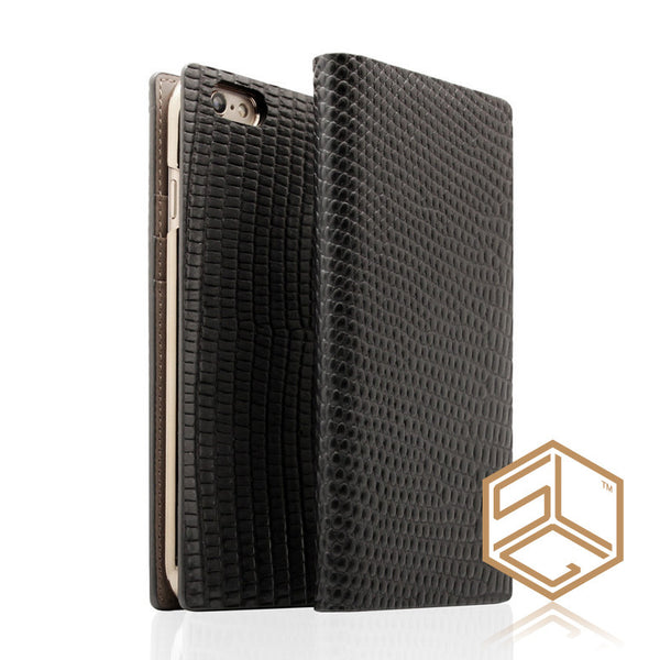 iPhone 6s PLUS /6 PLUS Premium Leather Wallet Case SLG D3 ITALIAN LIZARD - Patchworks Global Inc - 1