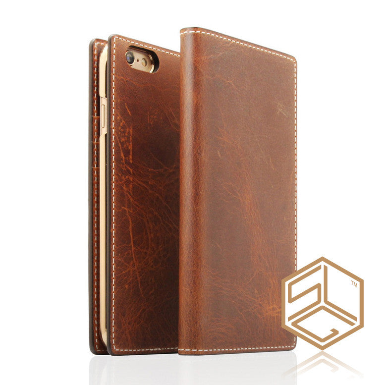 IPHONE 6S PLUS / 6 PLUS Italian Wax Leather case SLG D7 - Patchworks Global Inc - 1