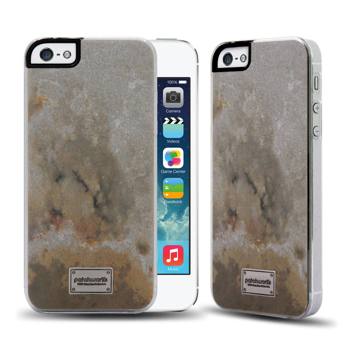 iPhone SE / 5s / 5 Snap case CLASSIQUE STONE SLATE - Patchworks Global Inc - 1