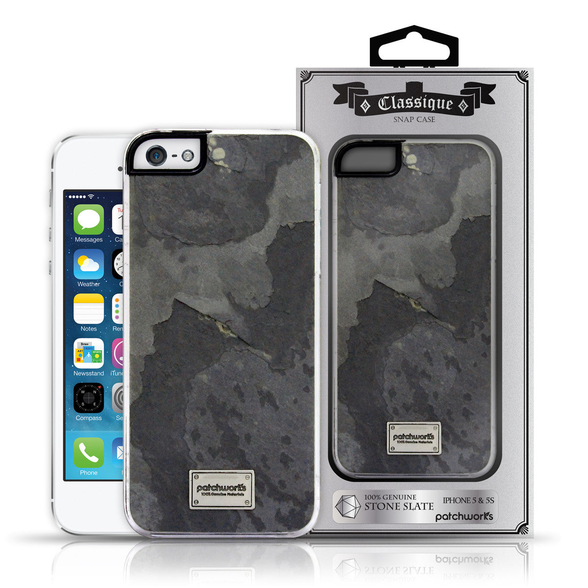 iPhone SE / 5s / 5 Snap case CLASSIQUE STONE SLATE - Patchworks Global Inc - 6