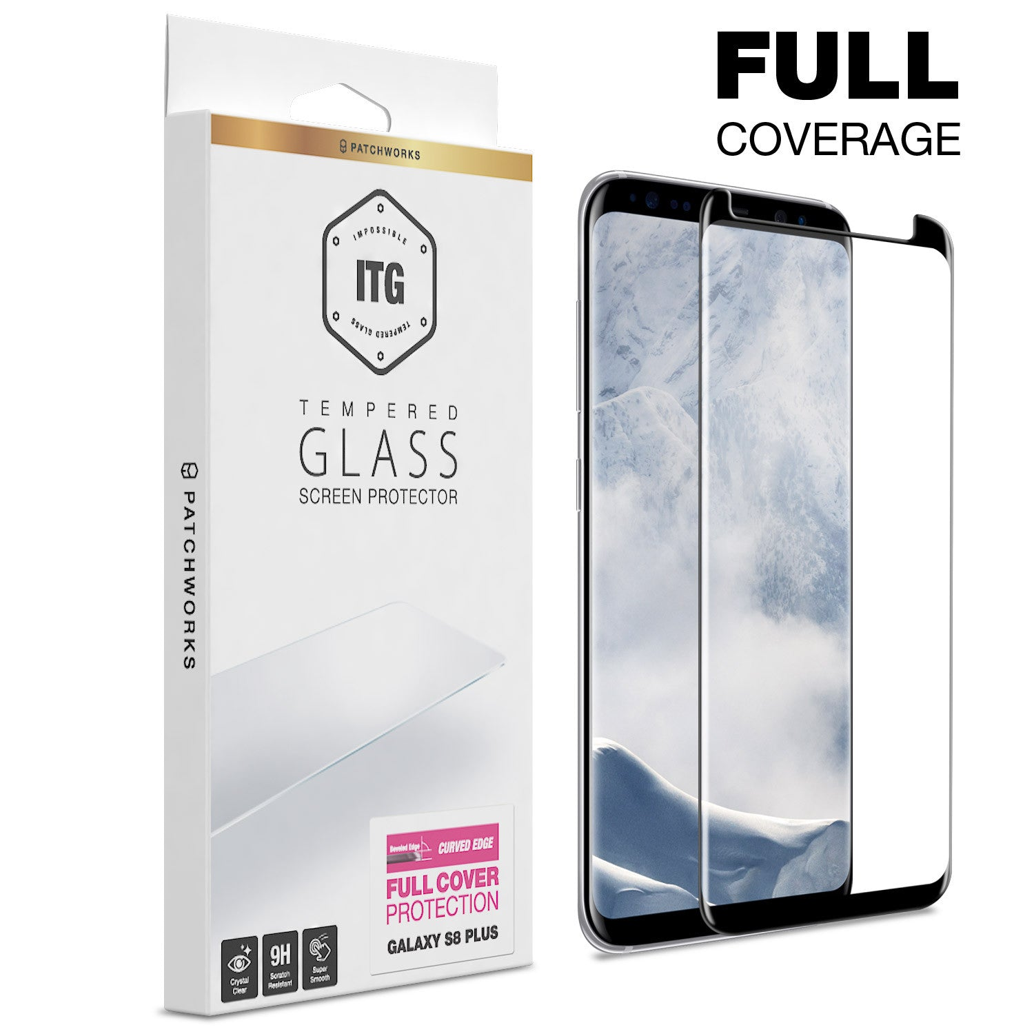 Galaxy S8 Plus Glass Screen Protector - ITG FULL COVER