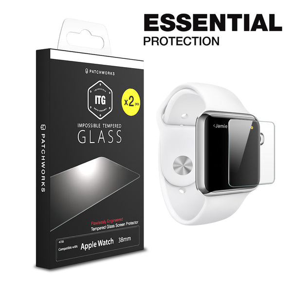 APPLE WATCH GLASS SCREEN PROTECTOR ITG PLUS x2 (Value Pack)