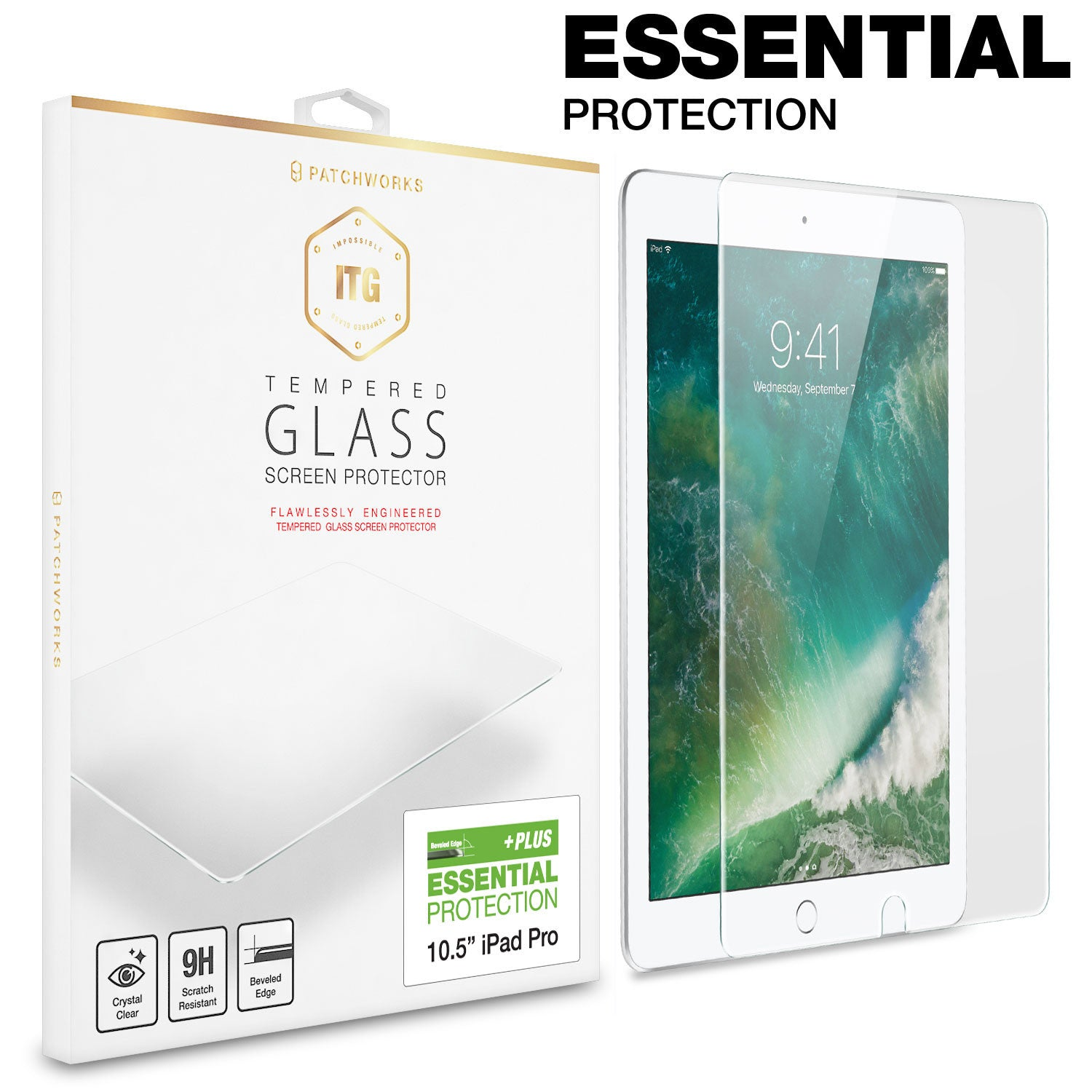 IPAD PRO 10.5-inch (2017) Tempered GLASS SCREEN PROTECTOR - ITG PLUS