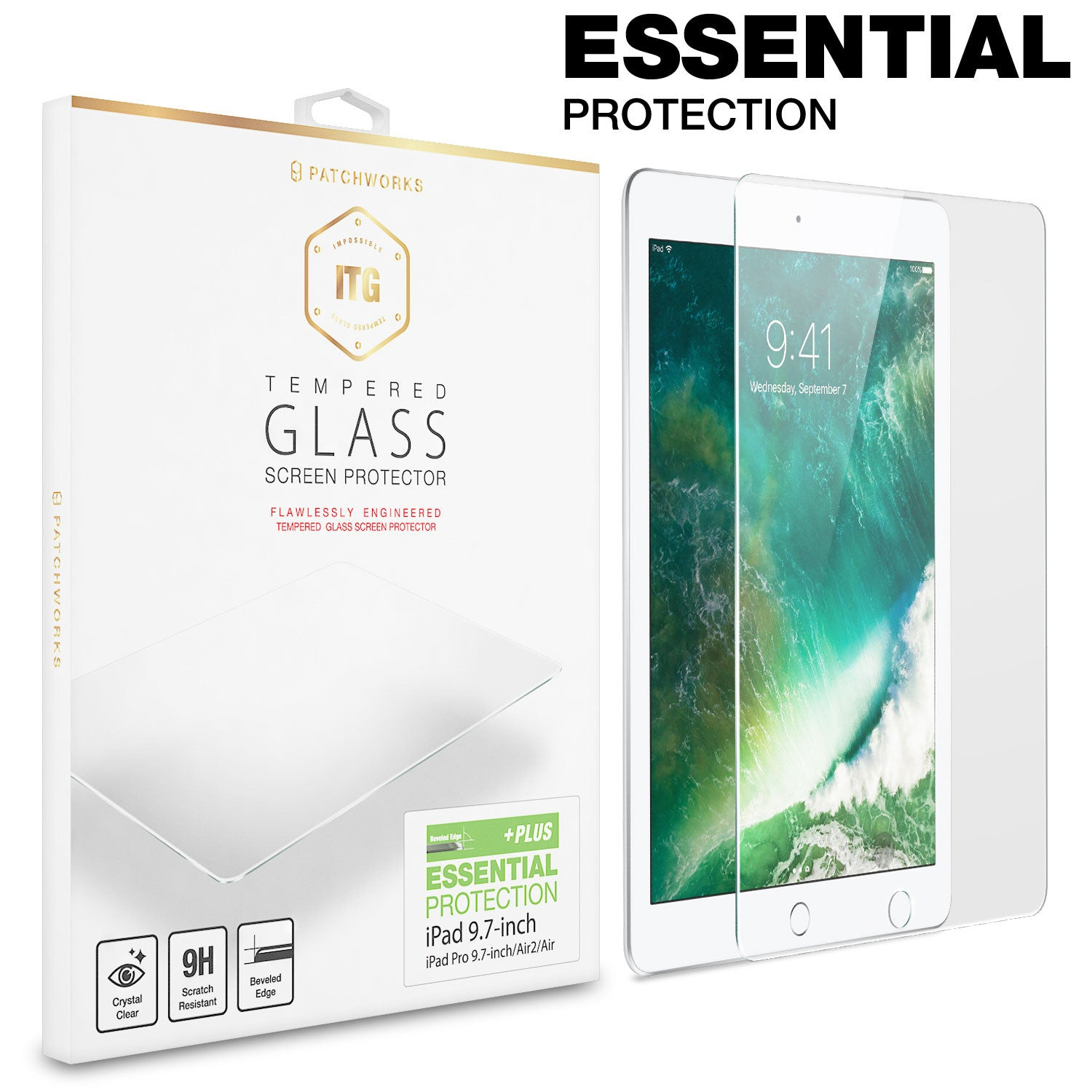 IPAD 9.7-INCH (2017) TEMPERED GLASS SCREEN PROTECTOR - ITG PLUS