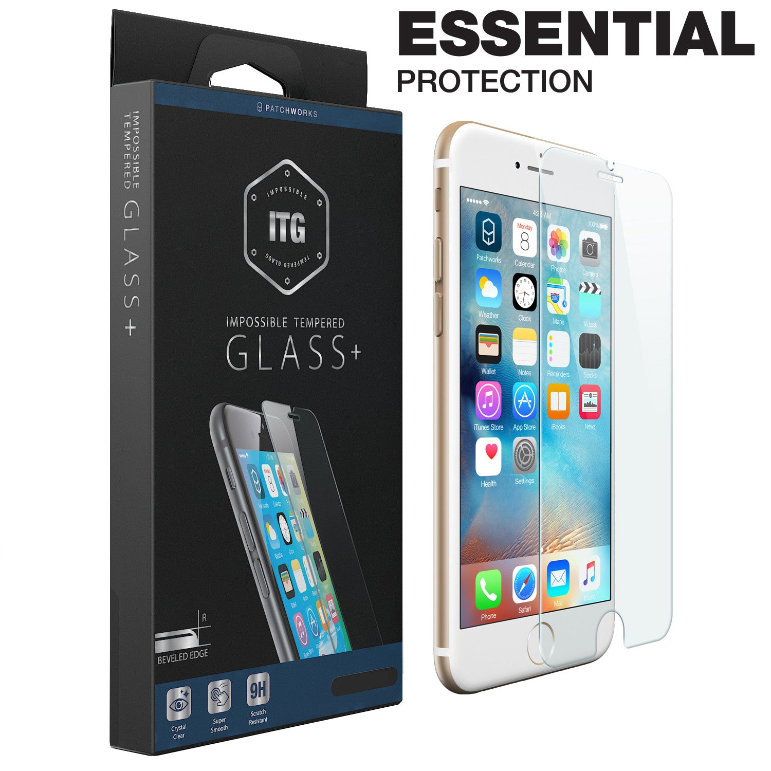 iPhone 6s Plus / 6 Plus Glass Screen Protector ITG PLUS ESSENTIAL - Patchworks Global Inc - 1