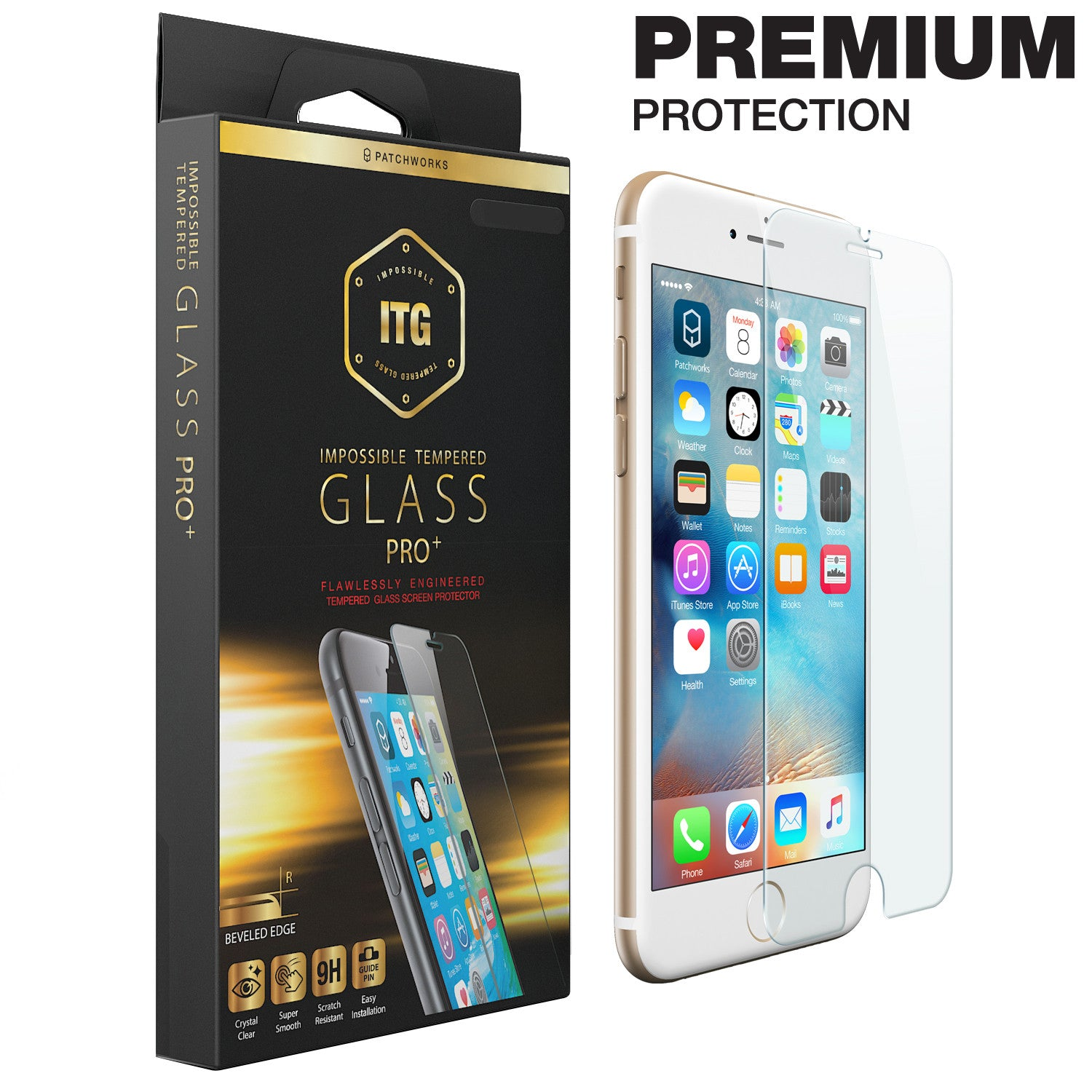 iPhone 6s Plus / 6 Plus Glass Screen Protector ITG PRO PLUS - Patchworks Global Inc  - 1
