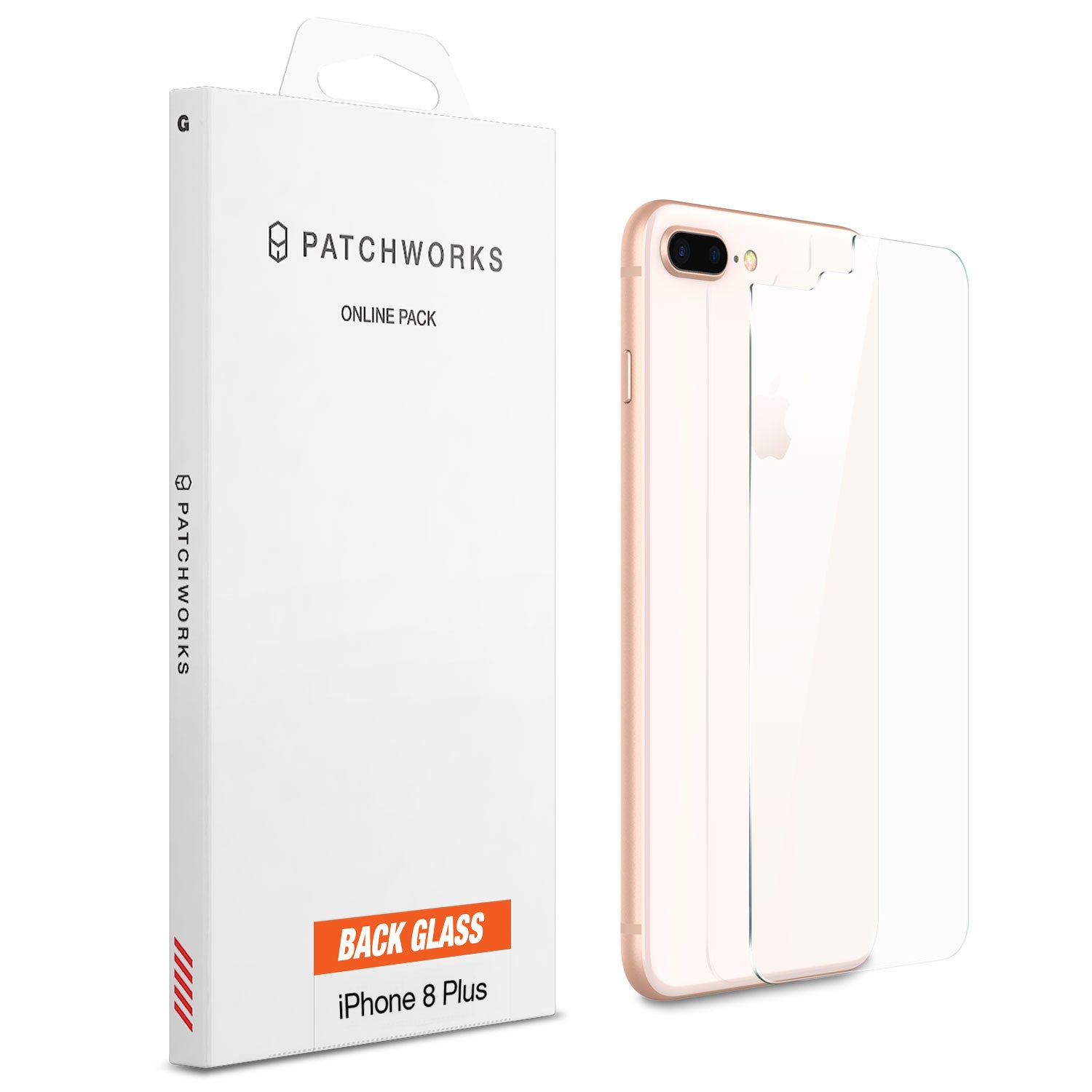 IPHONE 8 PLUS GLASS SCREEN PROTECTOR - ITG BACK GLASS