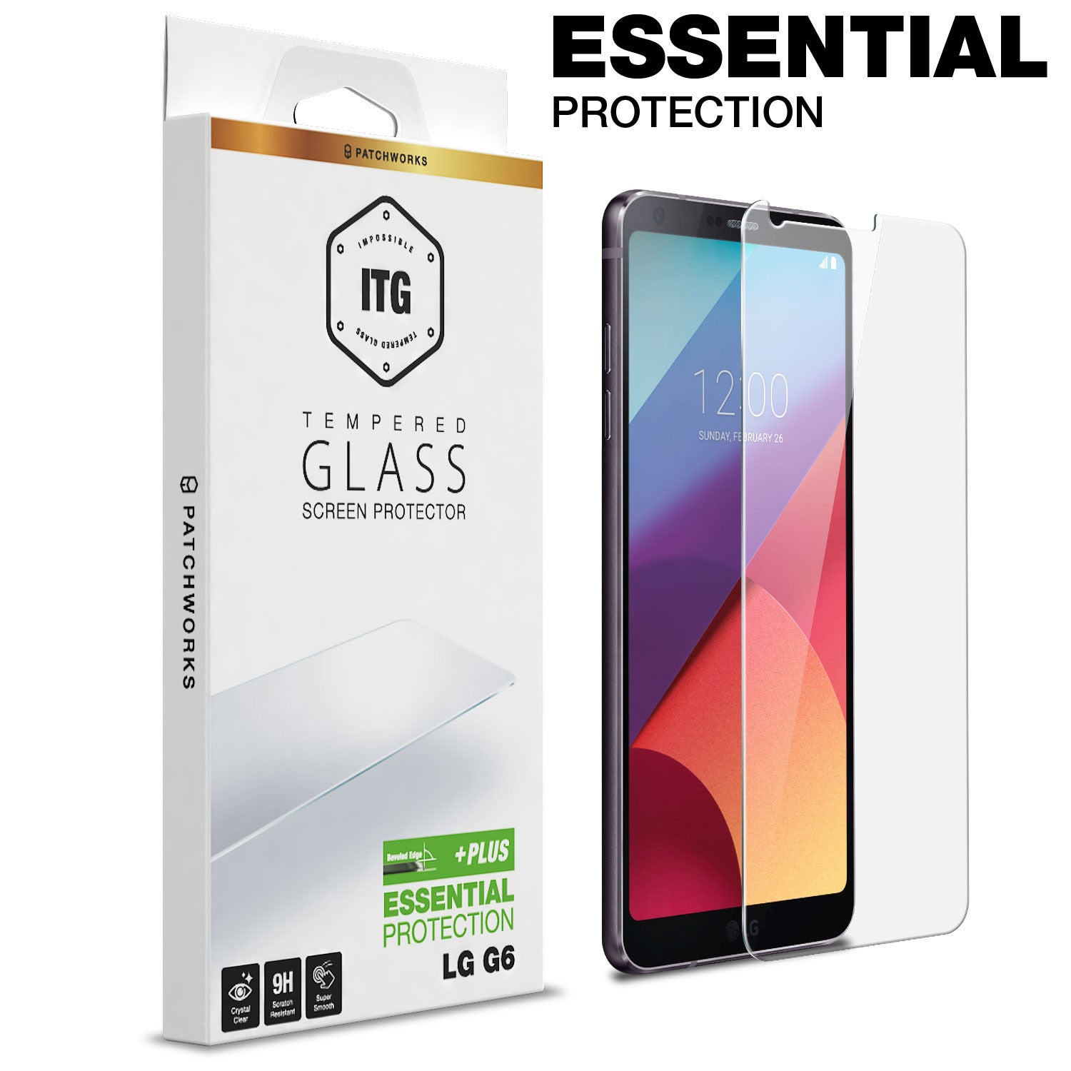 LG G6 Glass Screen Protector ITG PLUS
