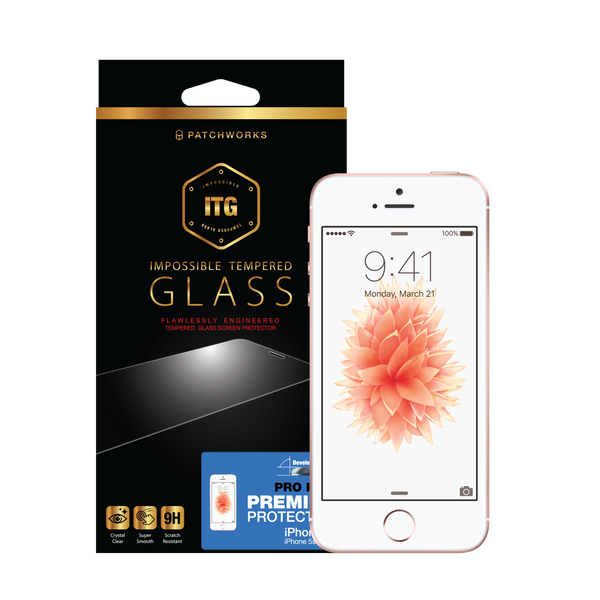 iPhone SE / iPHONE 5S / 5 / 5C Glass Screen Protector ITG PRO PLUS - Patchworks Global Inc - 1