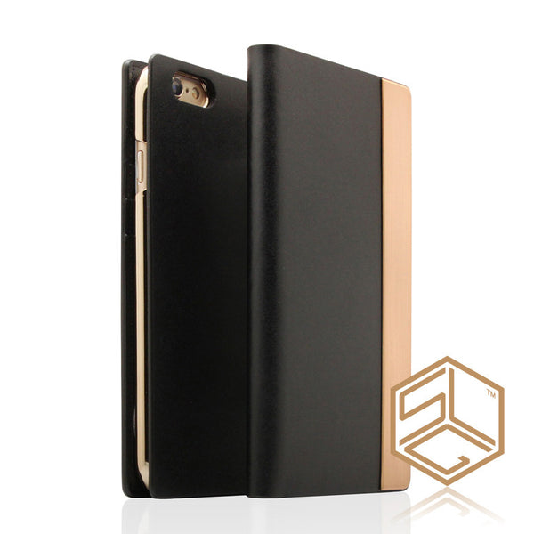 IPhone 6s Plus / 6 Plus Metal Calf Skin Leather case SLG D5 - Patchworks Global Inc - 1