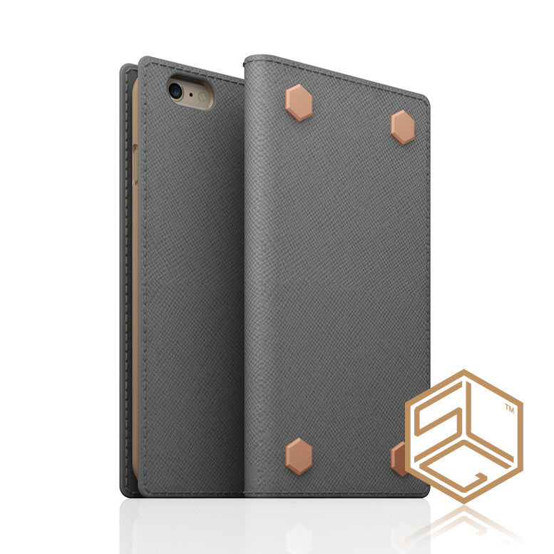 iPhone 6s Plus / 6 plus Saffiano Calf Skin Leather case SLG D5 Edition - Patchworks Global Inc - 1