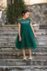 Magnolia Green Holiday Plaid Ruffle & Tulle Smock Dress - Just Couture