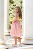 Skylar Sparkle Dress Angel Sleeve Vintage Pink & Gold Sequin - Just Couture