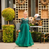 Emerald Green Isabella Heart Shape Big Bow Dress Gown - Just Couture
