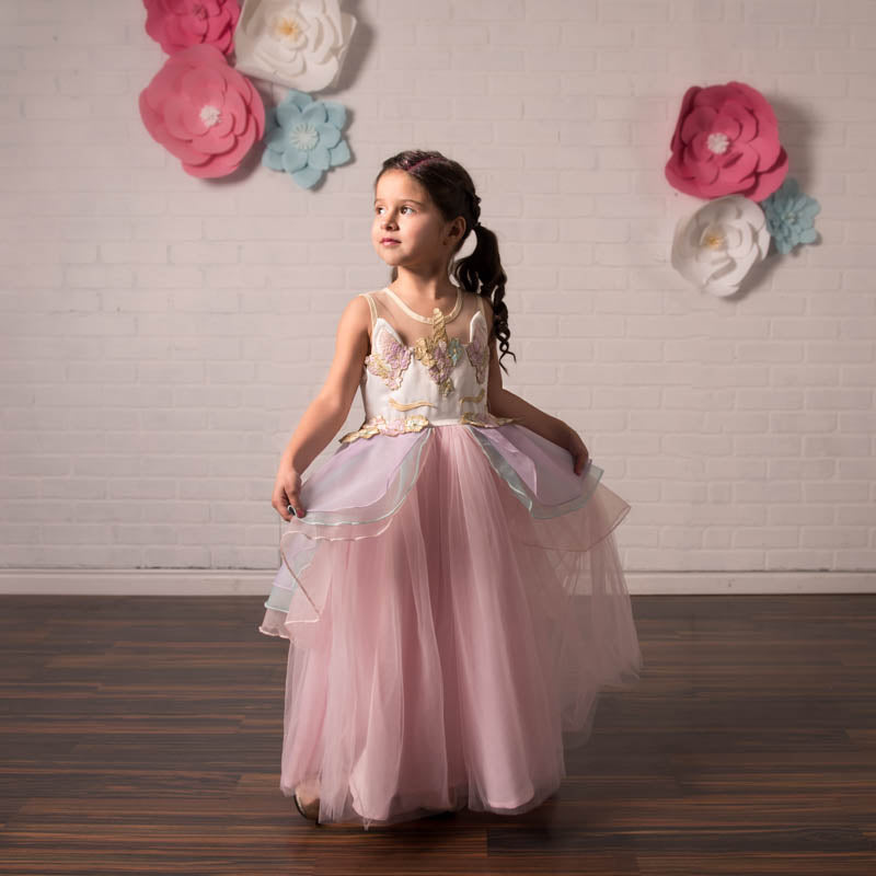 Unicorn Pink Tulle Gown Dress - Just Couture