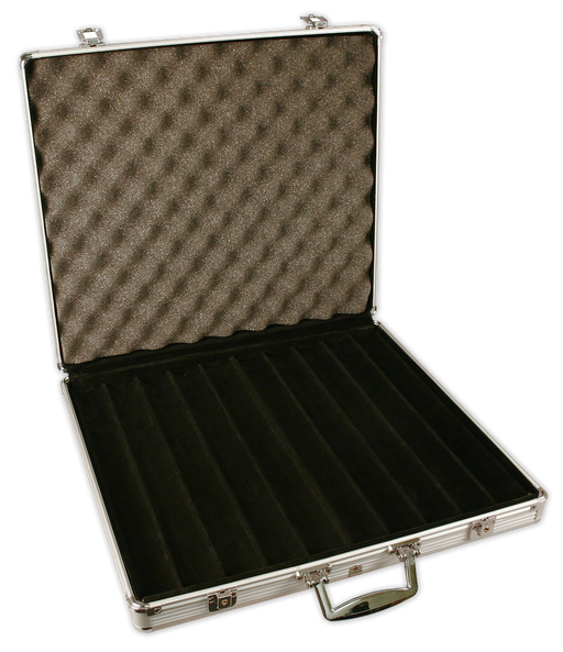 1000 chip capacity aluminum poker chips case
