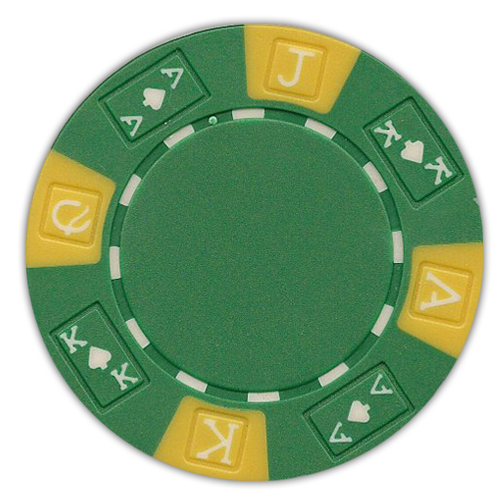 Ace King 3 tone 11.5 gram green poker chips