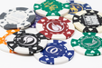 11.5 gram custom poker chips - foil stamped card suited chips