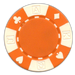Orange poker chips in a card suited design - 11.5 gram clay composite poker chips