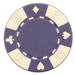 Purple poker chips in a card suited design - 11.5 gram clay composite poker chips