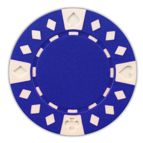 Blue Diamond Suited 11.5 gram clay composite poker chips - 50 chips