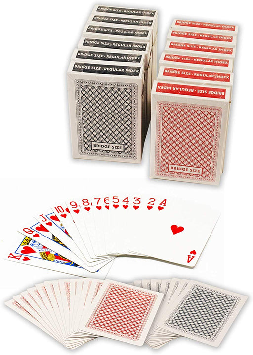 Value priced plastic coated playing cards - Bridge size normal index